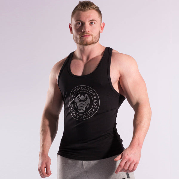 Mens Taped Stringer Vest (Black)