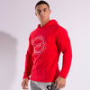 Red Compression Hoodie from Gymgator gym wear for men