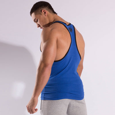 Mens Taped Stringer Vest (Blue/Black)