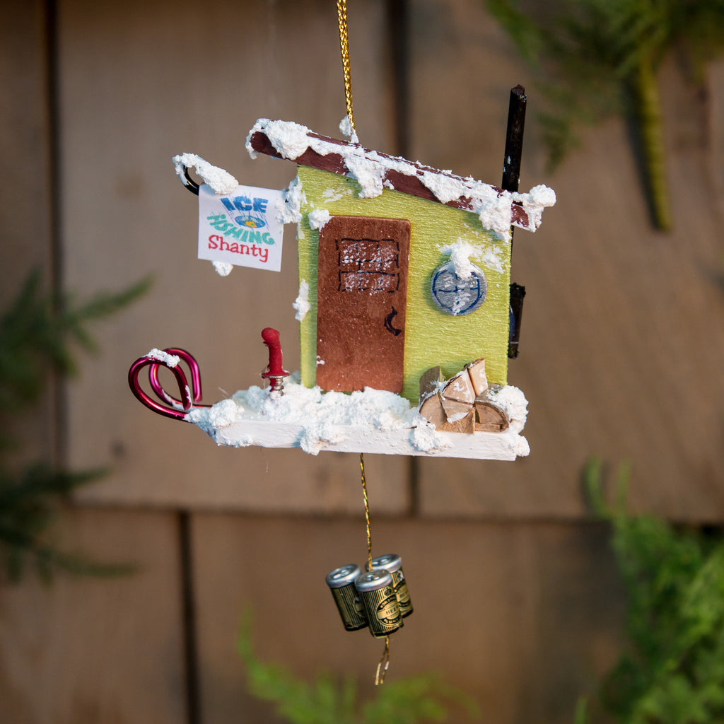 Ice Fishing Shanty Ornament