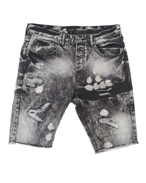 Smoke Denim Short - Shorts - Staple Pigeon
