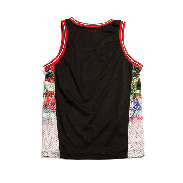 Map Basketball Jersey - Tee - Staple Pigeon