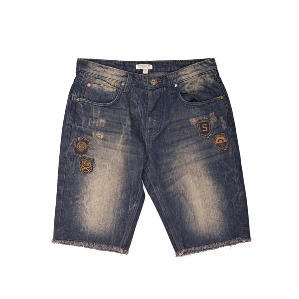 Safari Patch Denim Short - Shorts - Staple Pigeon