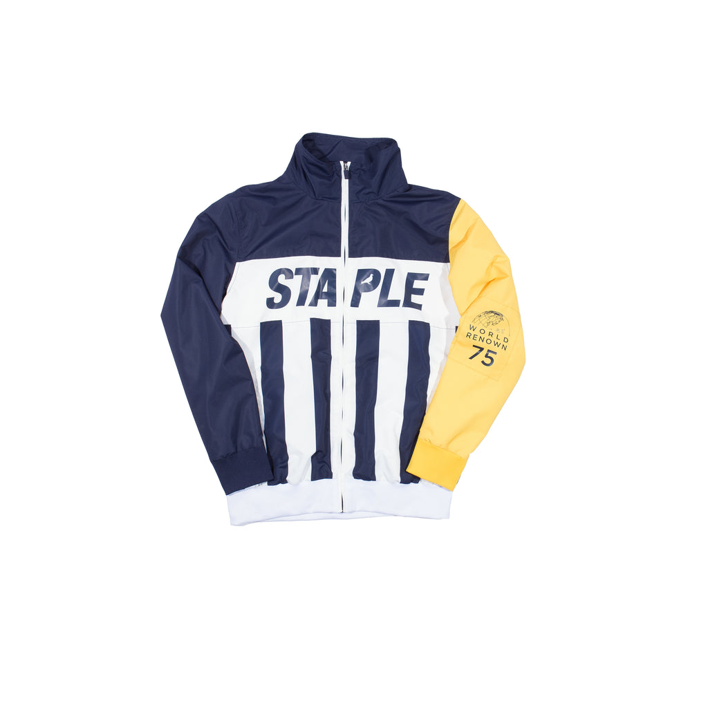 Stripes Nylon Logo Jacket - Jacket | Staple Pigeon