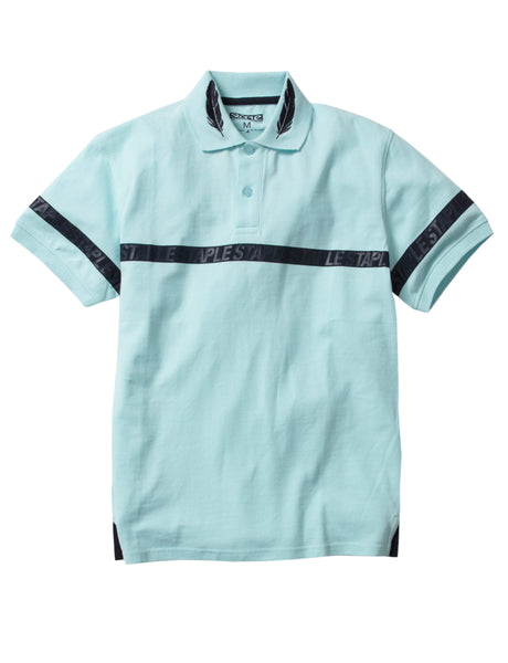 Feather Stripe Polo - Tee | Staple Pigeon