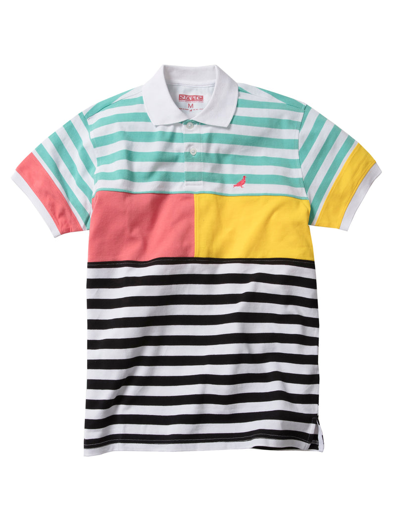 Deco Stripe Polo - Top | Staple Pigeon