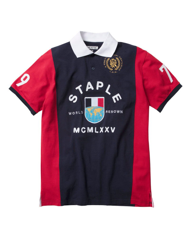 World Tour Crest Polo - Tee | Staple Pigeon