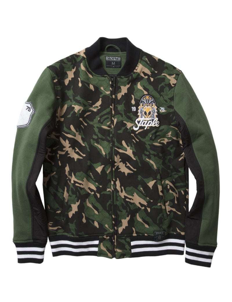 Napalm Camo Fleece Bomber - Jacket | Staple Pigeon
