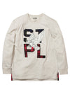 Flannel Applique L/S Tee - Tee | Staple Pigeon