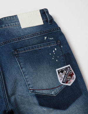 Flag Denim Shorts - Shorts | Staple Pigeon