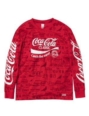 Coca-Cola Allover Long Sleeve Tee - Tee | Staple Pigeon