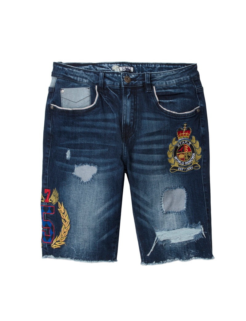 Staple Crest Denim Shorts - Shorts | Staple Pigeon