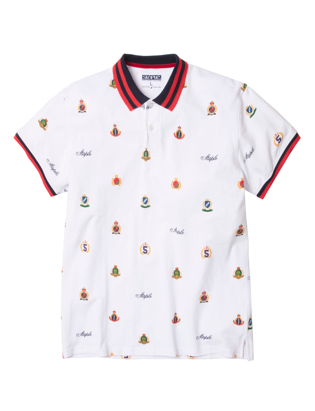 Multi Crest Allover Polo - Top | Staple Pigeon