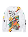 Staple World Long Sleeve Tee - Tee | Staple Pigeon