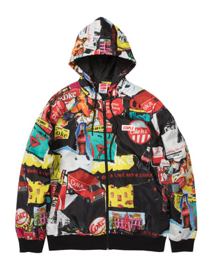 Coca-Cola Collage Hooded Jacket - Jacket | Staple Pigeon