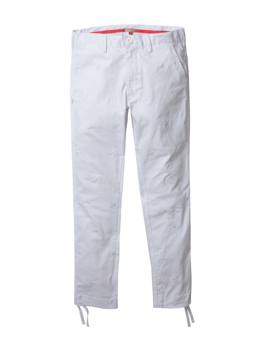 Allover Embroidered Twill Pants - Pants | Staple Pigeon