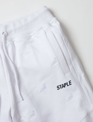 Allover Pigeon Poly Shorts - Pants | Staple Pigeon