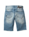 Abstract Denim Shorts - Shorts | Staple Pigeon