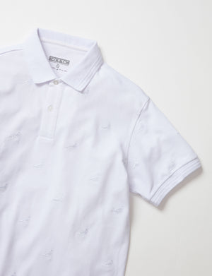Allover Embroidered Pigeon Polo - Top | Staple Pigeon