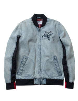 Denim Baseball Jacket - Jacket | Staple Pigeon