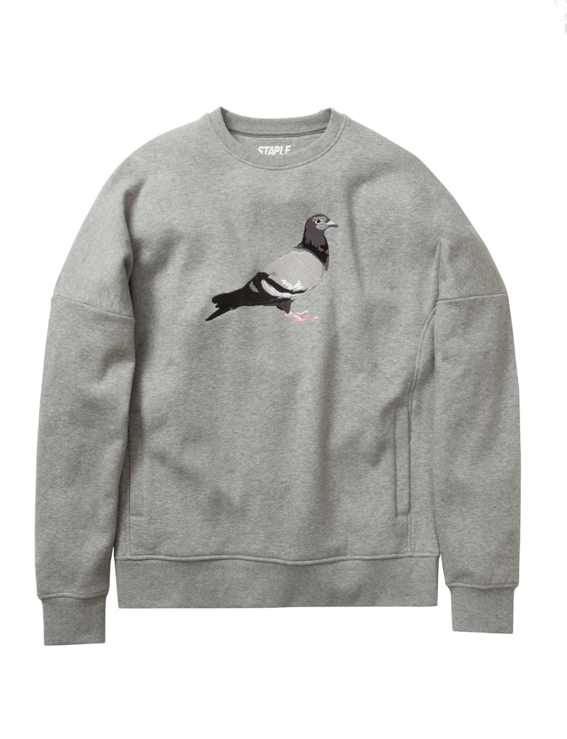 Pigeon Embroidered Crewneck - Sweatshirt | Staple Pigeon