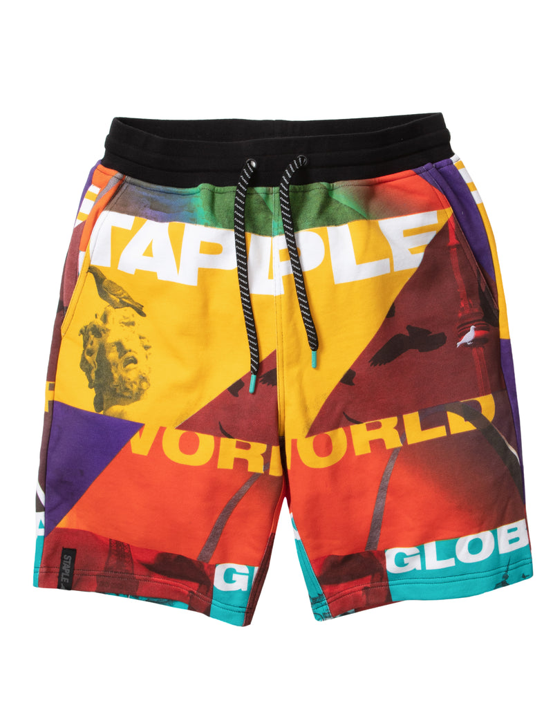 World Collage Sweatshort - Shorts | Staple Pigeon