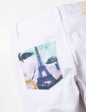 World Collage Denim Pant - Jeans | Staple Pigeon