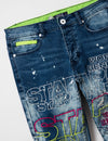 Embroidered Logo Denim Pants - Jeans | Staple Pigeon