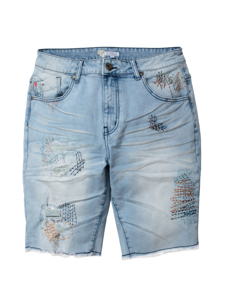 Stitch Denim Shorts - Jeans | Staple Pigeon