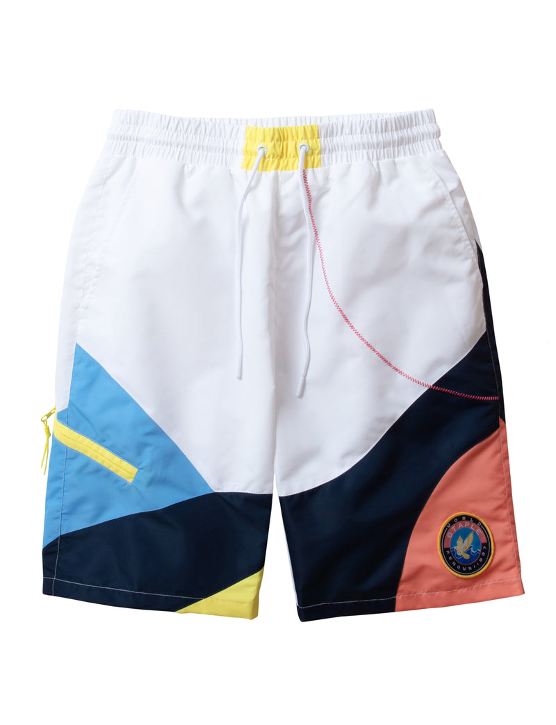 Zig Zag Nylon Shorts - Shorts | Staple Pigeon