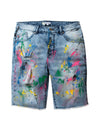 Splatter Denim Short - Shorts | Staple Pigeon