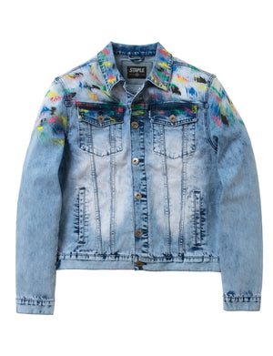 Splatter Denim Jacket - Jacket | Staple Pigeon