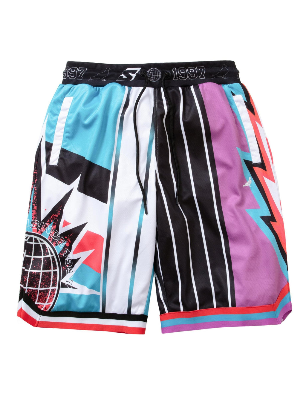 Lightning Stripe Basketball Short