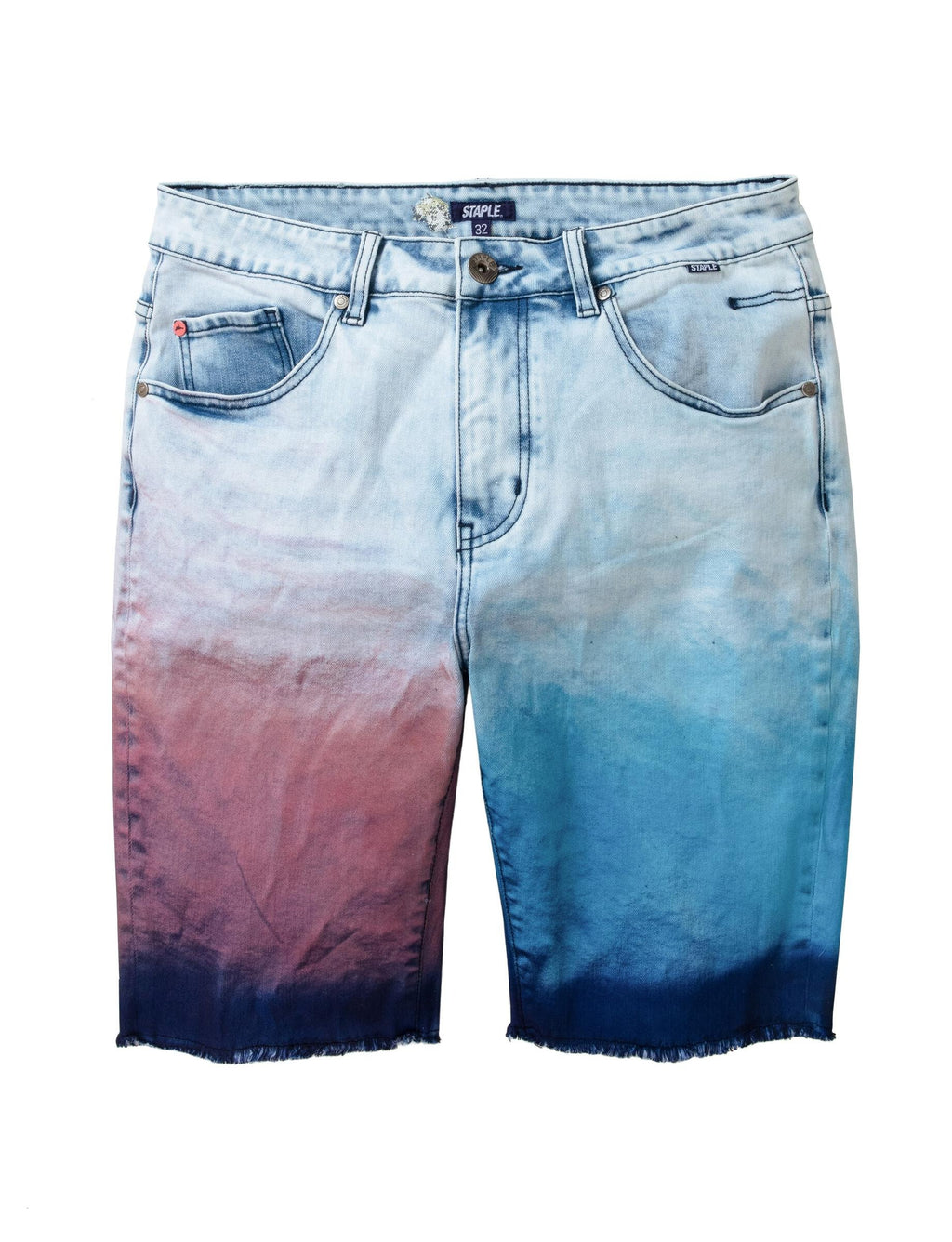 Dyed Panel Denim Short - Shorts | Staple Pigeon