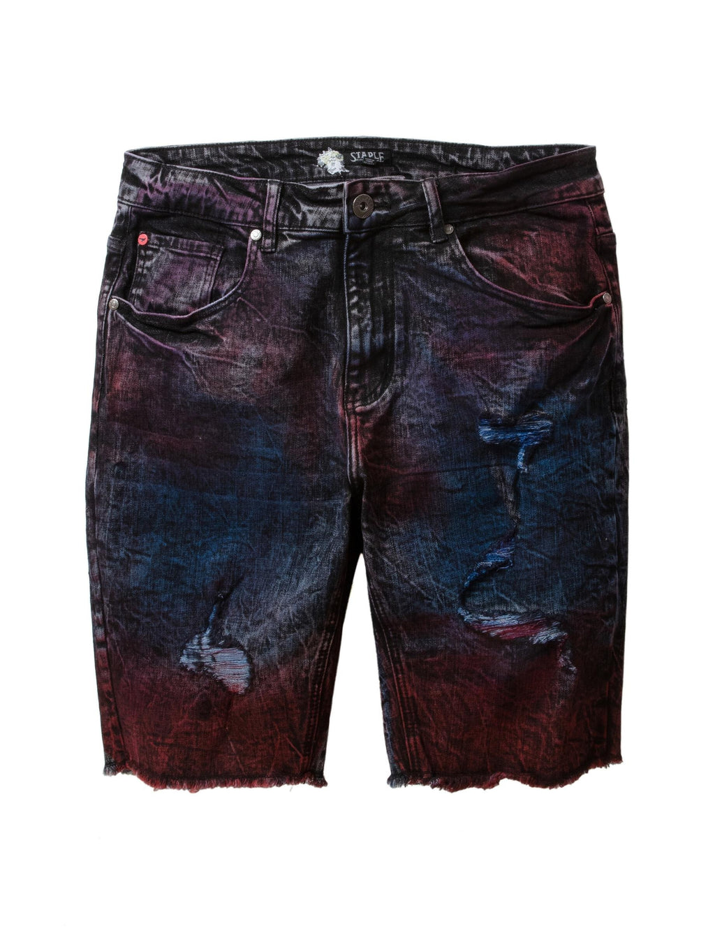 Spray Denim Shorts - Shorts | Staple Pigeon