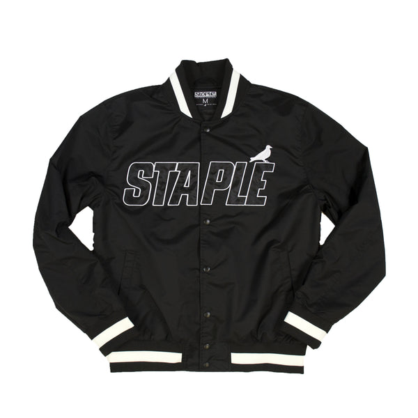 Nylon Baseball Jacket - JACKET - Staple Pigeon