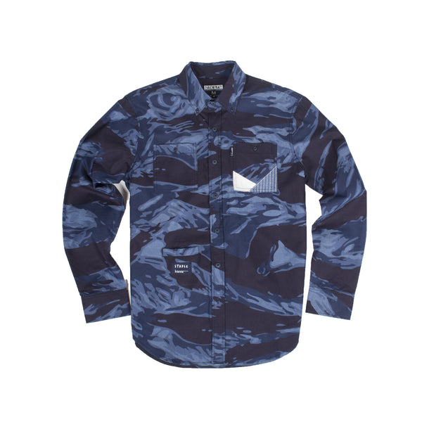 Tiger Camo Chambray Shirt - Woven - Staple Pigeon
