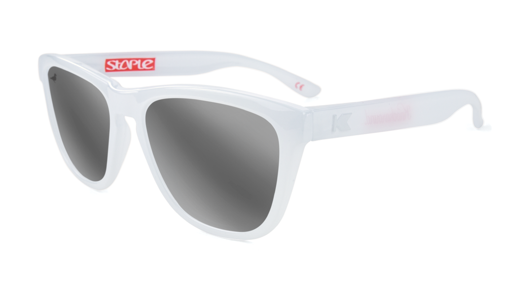 Staple x Knockaround Monochrome Sunglasses White - Sunglasses | Staple Pigeon