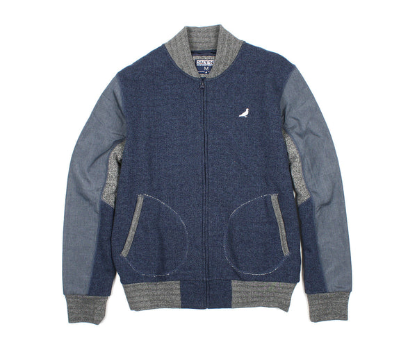 Pieced Loopback Bomber Jacket - Jacket - Staple Pigeon