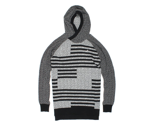 Check Jacquard Hooded Sweater - Sweatshirt - Staple Pigeon