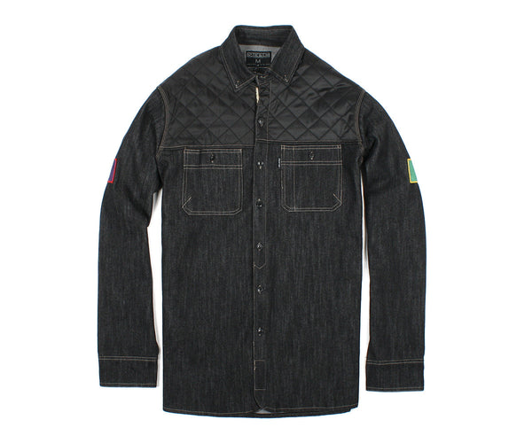 Patch Denim Overshirt - Woven - Staple Pigeon
