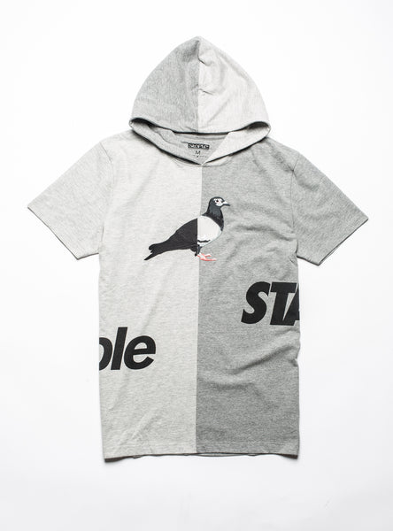 Split Hooded Tee - Tee - Staple Pigeon