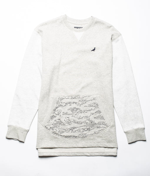Camo Embroidered Crewneck - Tee - Staple Pigeon