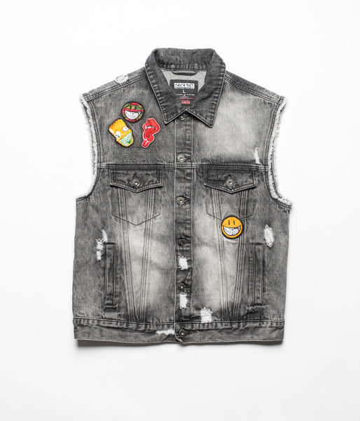 Ron English Denim Vest - Jacket - Staple Pigeon