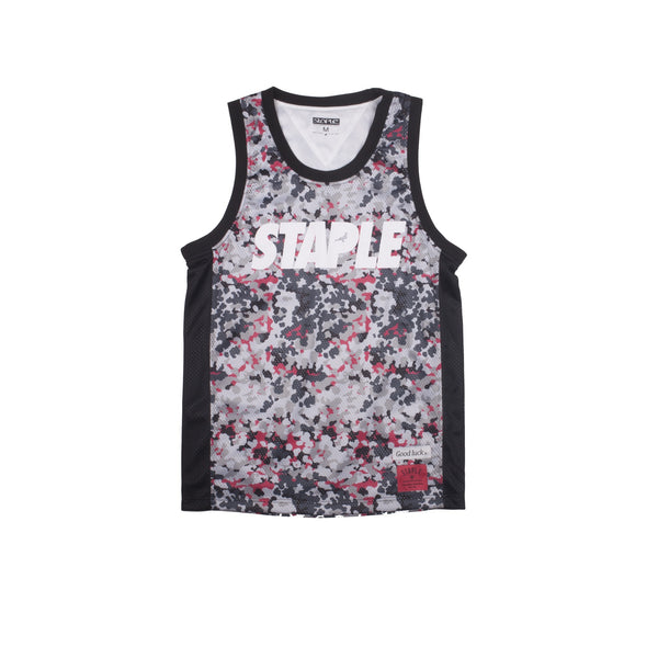 Pigeon Camo Basketball Jersey - Woven - Staple Pigeon