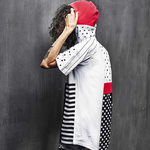 Dot Stripe Hooded Tee - Tee - Staple Pigeon
