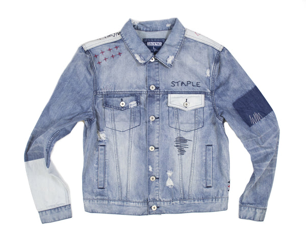 Distressed Denim Jacket - Jacket - Staple Pigeon