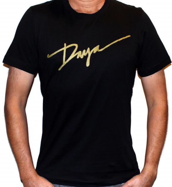 Daya Gold Logo Unisex T in black