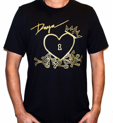 Daya Heart Logo Unisex T in black