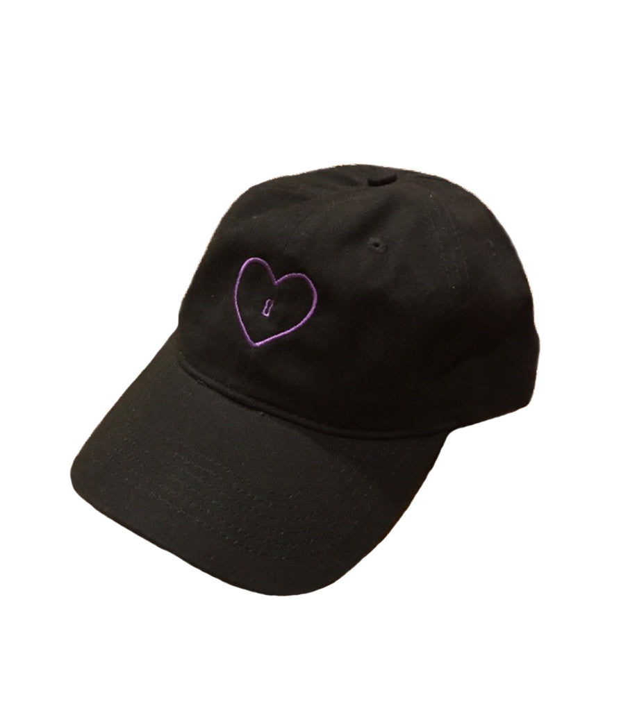Black hat with heart